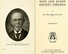 1908 KING & QUEEN County Virginia VA, History & Genealogy Family Tree DVD CD B49