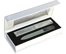 NYK1 Crystal Glass Mini Nail File Cuticle Manicure Tool and Hard Case Xmas Gift
