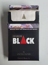 Djarum BLACK FILTER KRETEK CIGARETTES BEST INDONESIAN PRODUCT 5 pack