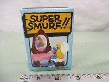 Super Smurf Figure box Vintage Toy Schleich Smurfette vaniety dresser mirror toy