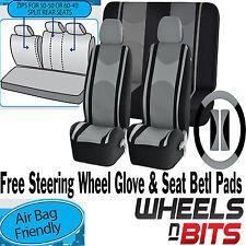 Grau Netzgewebe Tuch Autositzbezug Lenkung Handschuh passen Peugeot 105 205 206
