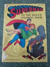 "VINTAGE 1964 WHITMAN COLORING BOOK ""SUPERMAN TO THE RESCUE"""
