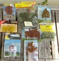 Noch, Busch, Faller H0 Konvolut - D-  farbige Bäume und Laubbäume in OVP