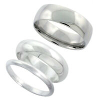 Sterling Silver Plain Band Comfort Fit Ring Solid 925 -2mm,16.4mm K5C4