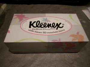 VINTAGE 1991 UNOPENED KLEENEX FACIAL TISSUE BOX 150 CT.  KIMBERLY CLARK