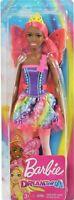 "Barbie Dreamtopia Fairy Doll 11.5"" Peach/Pink Hair w/ Wings & Tiara for OOAK!"
