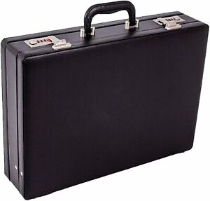 New Executive Doctor Attache Briefcase Pu Leather Case Expanding Business Bag UK