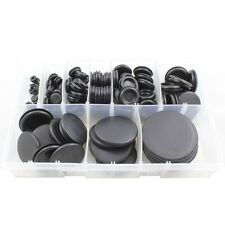 Cable Blanking Rubber *Closed* Grommets Assorted Box - 130 Pieces 6mm - 50mm