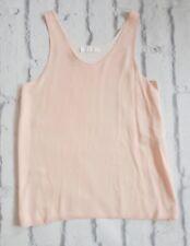 PASTEL PRINCESS: Chloe Resort 2016 Nude Pink 2 Layer Silk Vest Top FR36/UK8