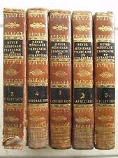 REVUE MEDICALE FRANCAISE ET ETRANGERE, 1825. 5 volumes