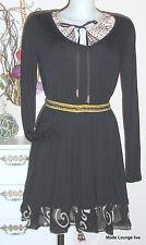 NOA NOA KLEID TUNIKA Basic Viskose S 36 Viscose black schwarz Neu