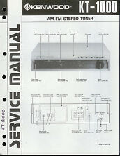 Original Factory Kenwood KT-1000 AM/FM Stereo Tuner Service/Repair Manual