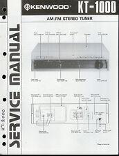 Original Factory Kenwood KT-1000 AM/FM Stereo Tuner Service/Repair Manual