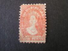 Tasmania, Scott # 23b, 1p. Value Orange Red 1864-69 Qv Issue Used