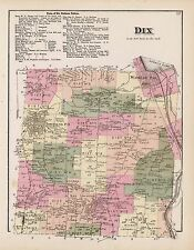 NEW YORK SCHUYLER COUNTY plat maps old GENEALOGY 1874 Atlas LAND OWNERS DVD P28