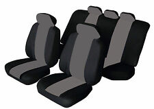 VOLVO S40 S60 S80 C30 C70 Universal SPORTY Fabric Car Seat Covers BLACK & GREY
