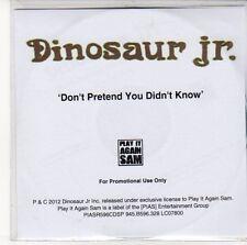 (ED921) Dinosaur JR, Don't Pretend You Didn't Know - 2012 DJ CD