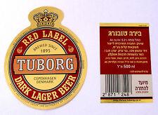 Tuborg Breweries Ltd  RED LABEL-DARK LAGER BEER label DENMARK 500ml Var. #19