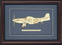 P-51D Mustang - Wood Art