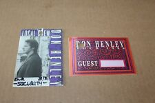 Don Henley - 2 x Backstage Pass - Lot # 5 - Free Postage - Eagles