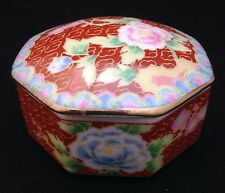 Decorative Japanese Hexagonal Trinket Box in Imari style