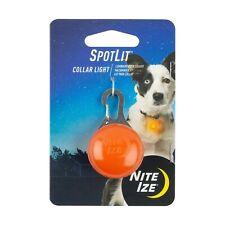 Nite Ize SpotLit LED Collar Light Orange Plastic, Carabiner Pet Locator Light