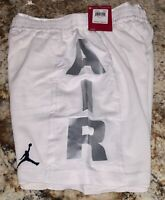 NIKE AIR JORDAN Jumpman Baller Mesh White Silver Basketball Shorts NEW Boys M