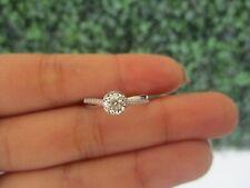 .12 CTW Diamond Engagement Ring 18k White Gold ER375 sep (PRE-ORDER)**