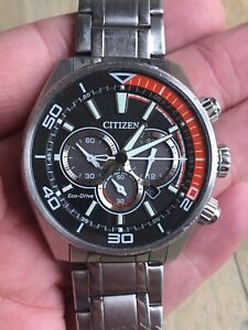 Citizen Eco-Drive Men's Stainless Steel Watch B620-S107245 with Box