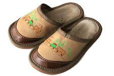 Kinder Jungen Hausschuhe Leder Happy Foot Pantoffel Latschen  Gr. 25-34 (3-3005)