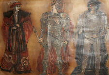 Large gouache painting theatre costume William Shakespeare ''Macbeth''