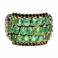 TOP EMERALD RING : Natürliche Grün Smaragd Ring Gr.18 Sterlingsilber R403