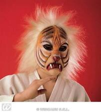 Childrens Tiger Face Mask With Hair Jungle Book Animal Fancy Dress