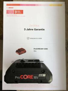Bosch Professional Akku Pro Core 18V 4.0AH neu unbenutzt