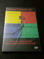 Table Tennis 101 (DVD, 2002) w/ US Olympians Wei Wang and Sean O'Neill Olympics