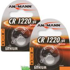 2 x Ansmann CR1220 3V Lithium Coin Cell Battery 1220 DL1220 KCR1220, BR1220