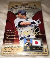 2009 Upper Deck Signature Stars Baseball Hobby Box w/ 4 Autos or Memorabilia