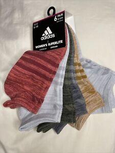 ADIDAS Women's Socks NO SHOW Superlite Compression MultiColors - New!