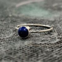 Lapis Lazuli  Solid 925 Sterling Silver Band Ring Meditation Ring Size ra 613