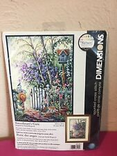 Sandy Bergeron #35144 Dimensions Counted Cross Stitch Kit Sweethearts Gate NEW