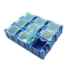 50 x Blue Mini Electronic Component Parts Case Box Laboratory Storage Smt Smd