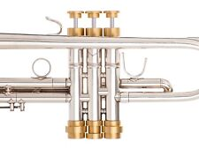 Bach Trumpet Trim Kit. KGUBrass. MARIO Extra heavy Caps. Raw Brass TKMaR122
