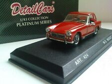 DETAIL M.G. MIDGET MK IV 1969 .1/43 SCALE  DIECAST CAR . WITH CASE AND BOX