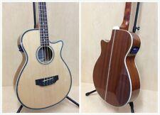 3/4 Size Haze FB-711 4-String Electric-Acoustic Bass Guitar,Natural+Free Gig Bag