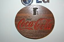 Coca Cola Magnet Walnut Wood Refrigerator Magnet American Made/ Homemade