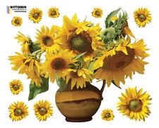 Aufkleber Sticker Fenstersticker Wandaufkleber Sonnenblume Sunflower Blumen Deko