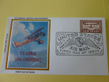 US Airmail Service Fdc Sc#5282 (100th Anniv.) 2018 (Red Stamp) (Variety #5)