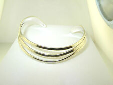 Gracefully Curved  CUFF  Bracelet  Polished .925 Sterling Silver  10.8 grams