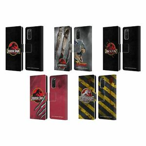 OFFICIAL JURASSIC PARK LOGO LEATHER BOOK WALLET CASE COVER FOR SAMSUNG PHONES 1