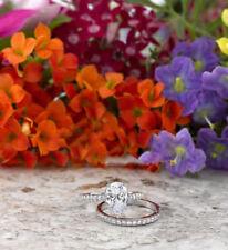 2CT Pear Cut Diamond Solitaire Bridal Set Engagement Ring 10K White Gold Finish